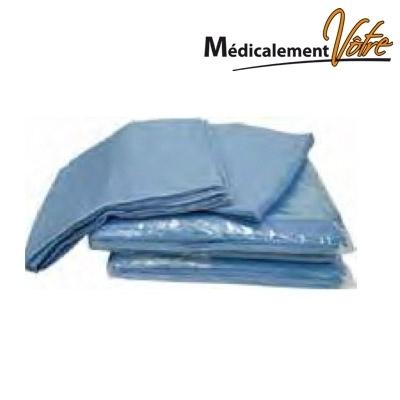 Protection Mobilier Taie d'oreiller bleue jetable non tissé - carton x 200