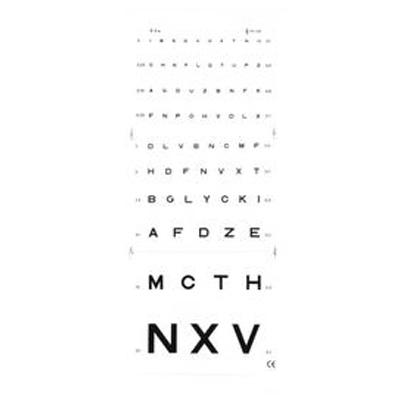La mesure Test visuel de Monoyer pour lecture directe - Unitaire - 3 ou 5 m