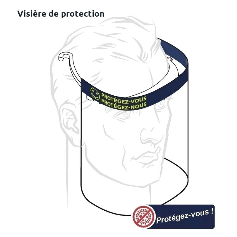 Masques Visière avec écran de protection - Taille unique