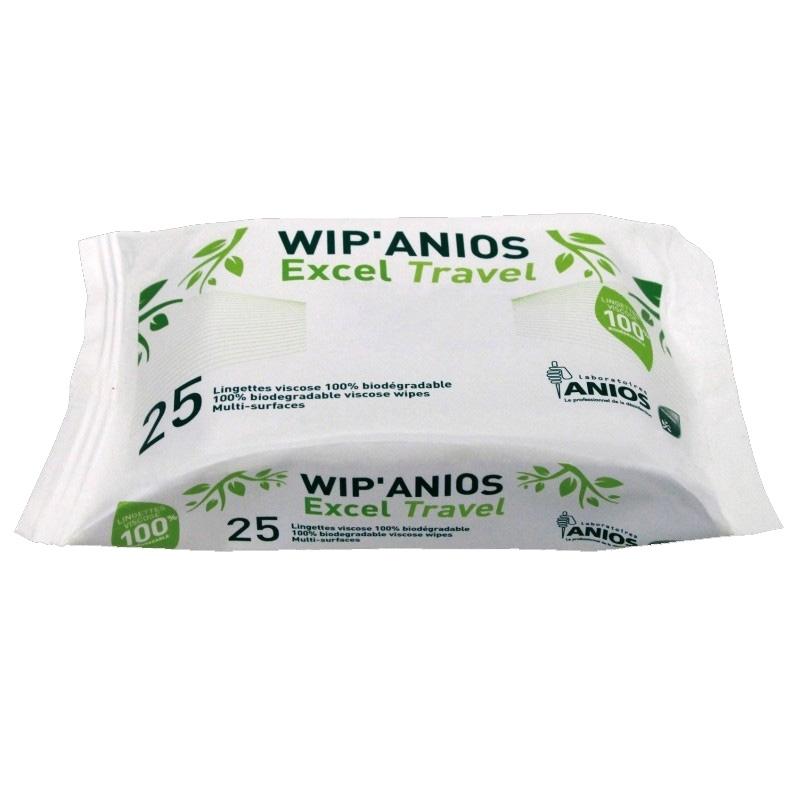 Lingettes désinfectantes Lingettes WIP'ANIOS travel - Paquet x 25