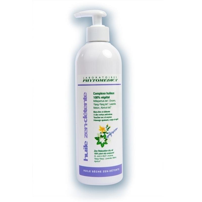 Crèmes & Huiles Huile sèche Zen Détente - Phytomédica - 100% végétale - Flacon de 500 ml
